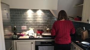 Nicole in kitchen
