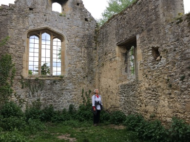 "CE at Godstow Abbey contemplating the fate of ""Fair Rosamund"""