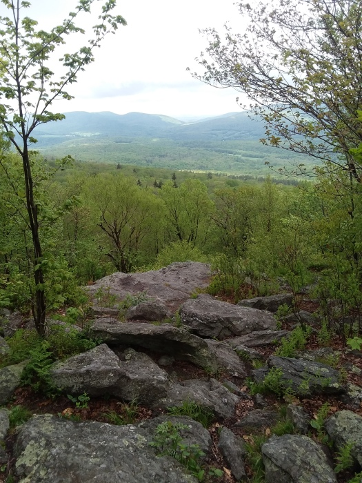 The other overlook at Rounds Rock, to the southwest, with Catskills in the distance.