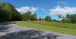 Up through upper field to Mount Greylock Reservation visitor center.