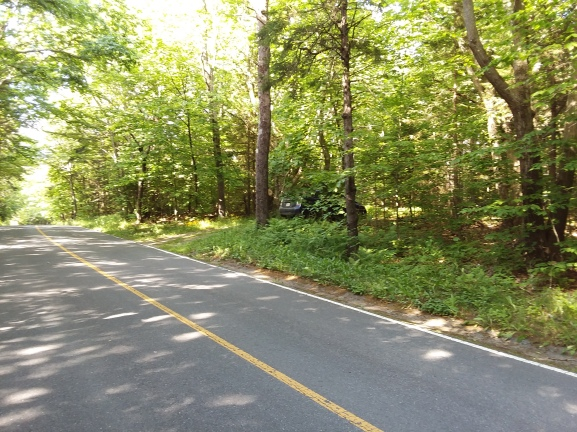 Two miles into the park, we have a quasi-private parking space, near where Northrup trail crosses the road.