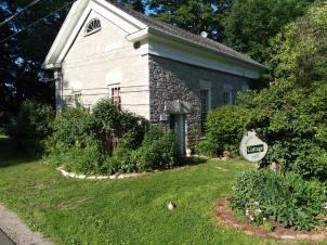 Past the 1832 schoolhouse.